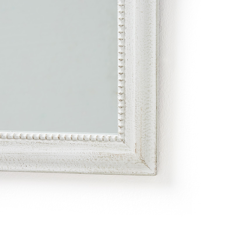 White Wood Framed Mirror